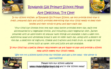 School Meals at Rowlands Gill Primary