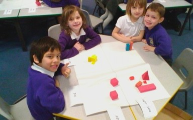 We really enjoyed using Carroll diagrams to sort 3D shapes!