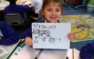 This week, we have all enjoyed learning how to add, using an open number line. :-)