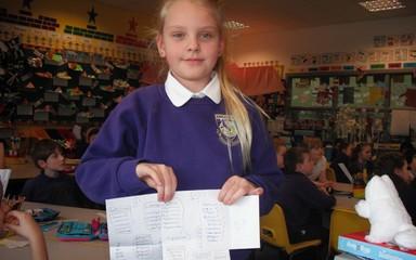 Harriet's Spelling Homework