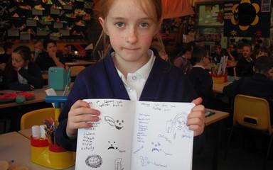 Evelyn's Spelling Homework.