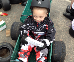 Kai's karting gear was a hit!