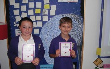 This week's certificates go to…