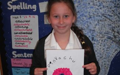 Chloe's portraits of our maths monsters.