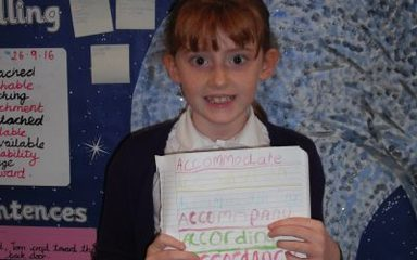 Amy's Spelling Homework.