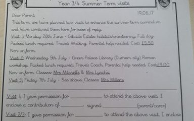 Classes 3/4 Summer Term Visit's