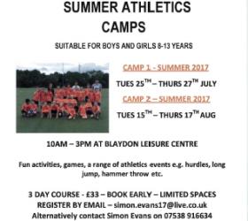 Blaydon Harrier Summer Camp