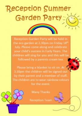 Reception Summer Garden Party