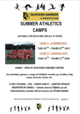 Blaydon Harrier Summer Camp