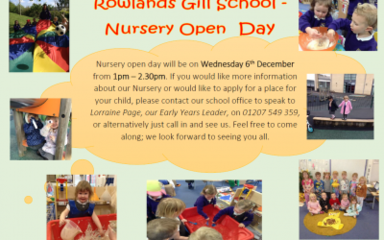 Nursery Open Day at Rowlands Gill Primary School