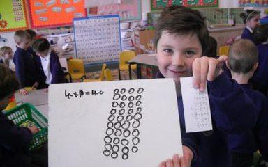 Multiplication (counting in repeated groups)