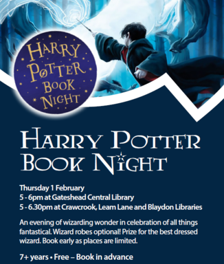 Harry Potter Book Night – Gateshead Libraries