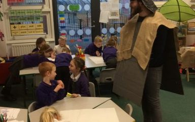 A visit from a knight!