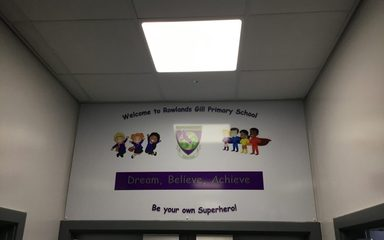 Our New Entrance Banner