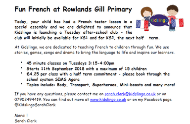 Fun French After School Club