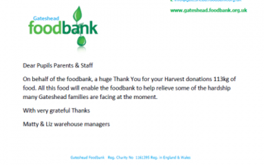 Food Bank Donations – Thank You!
