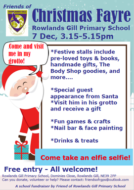 FoRGPS Christmas Fayre 7th December 2018!
