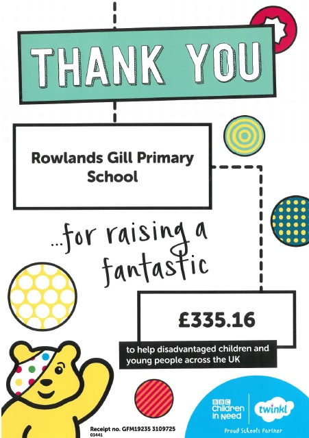 Children In Need – Thank you!